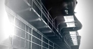 Prison hall, profile in thought via Shutterstock; Edited: JR/TO
